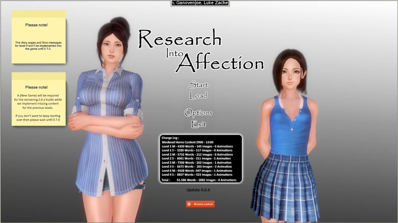 Research Into Affection 0.6.11 Game Walkthrough Download for PC